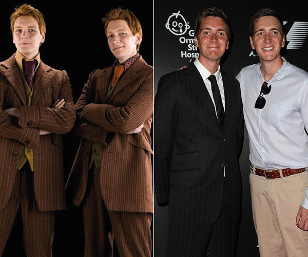 Ο James και ο Oliver Phelps (Fred και George Weasley)